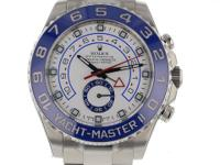 Rolex Yacht Master II Mens White Dial Steel Blue