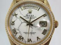 Up for sale a very rare President Day Date with Marble