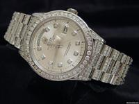 Genuine Rolex  8.50ct Diamonds  100% Lifetime Trade-Up