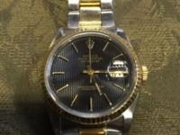 18k genuine Rolex date just worn all the time just