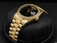 "Rolex Day-Date, ""President"", Yellow Gold, Bark Finish,"