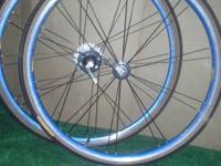 **BLUE IONIZED AERO WHEELSET 700C W/ TUBULAR