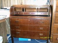 Price negotiable. Beautiful antique roll top desk