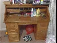great roll top desk for sale, roll top slides down & &