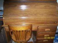 Desk and chair. Good condition. Leave message at
