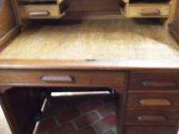Nice Small roll top desk made by the Indianapolis