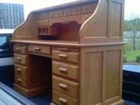 Beautiful Roll Top Desk with Light.Marlow