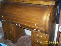 Solid Oak Riverside Roll Top Desk Great