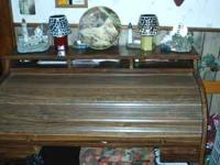 ROLL UP DESK WITH A SHELF ON TOP 75.00  Location: