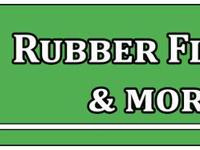 New Rolled Rubber Flooring  Color: Black Width : 4'