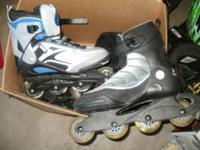 2 pair of Roller Blades used only a couple of times.