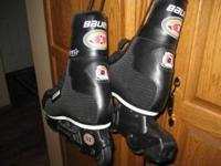 New roller blades by Bauer (off ice) model and wrist,
