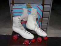 Womens size 9 roller skates in box. W/ urethane wheels