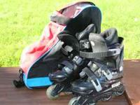 These youth roller blades are in good condition and
