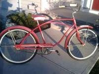"Red single speed with coaster brake(fits 5'-5'5""),"