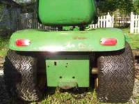John Deere 112 rolling chasis from 1970's. 150.00 OBO.