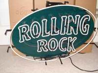 Brand new vintage Rolling Rock original neon in the box