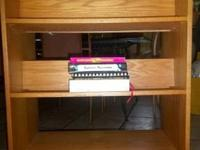 Beautiful used rolling book shelf cart - good as new -