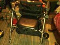 Hugo Deluxe 4 Wheel Rollator Rolling Walker with Padded