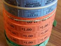I have numerous rolls of fundraiser-type tickets made