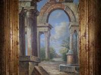 Beautiful Painting of Roman Ruins Professionally