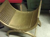 Romanesque-Byzantine Roman Style Chair - Curule $60.00