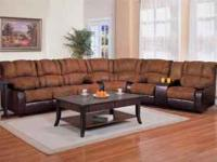 This contemporary two tone sectional includes