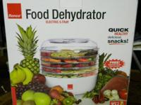 Ronco Food Dehydrator Electric 5 tray In box- never