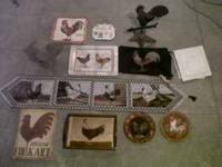 ROOSTER COLLECTION includes hand painted serving tray,