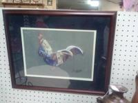 nice rooster picture, signed and numbered!! $20 plus