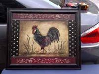 Rooster picture set: $20 2 flower pictures: $20