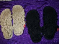 ROPE SANDALS THEY COME IN TAN AND BLACK.THEY ARE