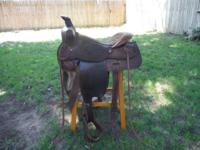 Roping saddle for sale. Size of seat is 15 inches.