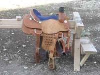 "15 1/2"" Roping Saddle. Great Condition. Comes with"