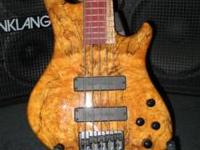 For sale is my Keith Roscoe, handmade 5 string bass. I