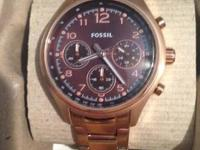BRAND NAME NEW Rose Gold Fossil watch !! I received it