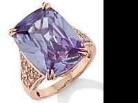 Rose Gold Technibond Lilac Quartz Ring is a SIZE 10.