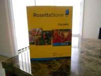 Rosetta stone Italian hardly ever used unfortunately.