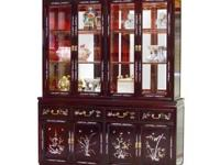 Rosewood Abalone Inlaid style China Hutch is a fine and