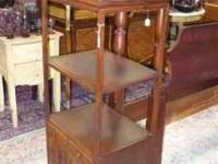 Lovely Rosewood Cabinet has shelves, two lined drawers,