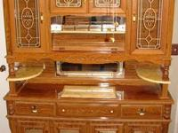 Rosewood China Cabinet with Cloud Lift motif Heres a