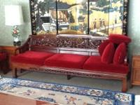 Selling beautiufl 3 peice rosewood furniture. Sofa and