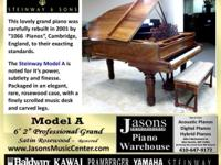"Hamburg Germany Steinway Model A -- 6' 2""  Satin"