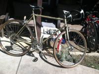 "Ross road bike with 27"" chrome wheels, 10 speeds and a"
