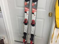 Used twin tip skis with Salomon bindings. 148cm Lots of