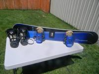 Very nice 145cm blue Rossignol snowboard with matching