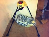 Gently used rotating baby swing..... missing cover