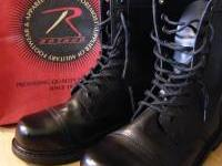 These Rothco black leather combat boots are top grain