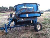 Luck Now Round Bale Shredder, used for bedding free