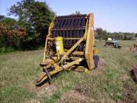 Vermeer Model 605B round baler, used this summer, works